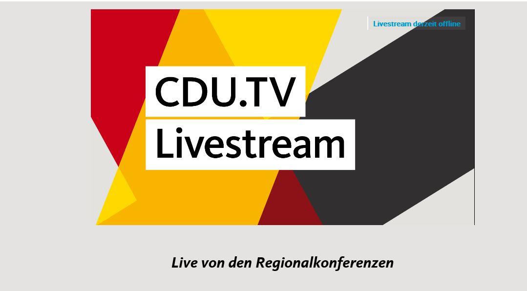 Cdu Regionalkonferenzen Live Stream