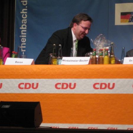 Bundesfinanzminister Wolfgang Schäuble in Rheinbach (Mai 2012)