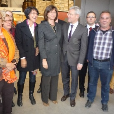 Im Gespräch: Bundesministerin Ilse Aigner in Bornheim (Mai 2013)