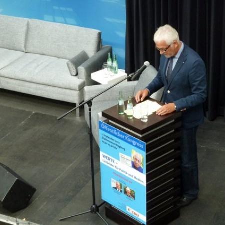 Öffentlicher Kongress zum Thema Werte mit Heiner Geißler (September 2012)